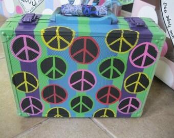 Jez4U Handpainted PEACE Memory Suitcases