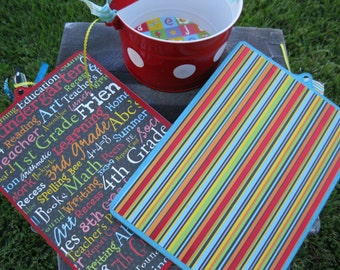 Jez4U Custom 2 Handpainted Clipboards and a red bucket