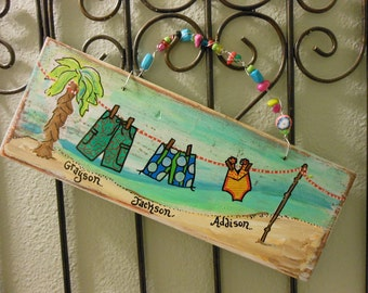 Beach Wood Sign Made to Order Give Details at checkout