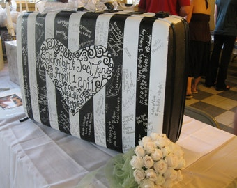 Jez4U Vintage XL Suitcases for Weddings...What are your wedding colors...Take it on your honeymoon