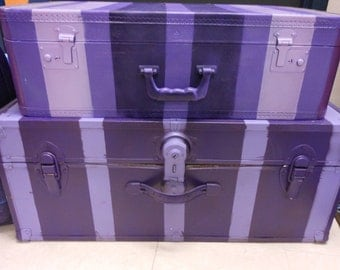 Suitcase Purple one Ready To Ship Big one shown on the bottom in pictures WHAT a deal