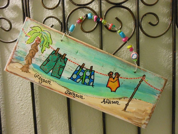 BEACh or POOL Fun Wood Sign Made to Order Give Details at checkout