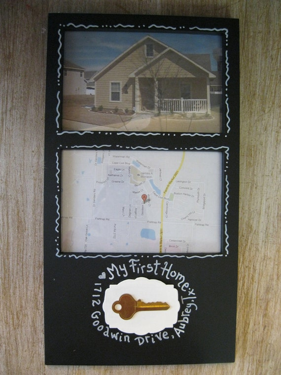 Items similar to custom order handpainted frame our first for Gifts for first apartment