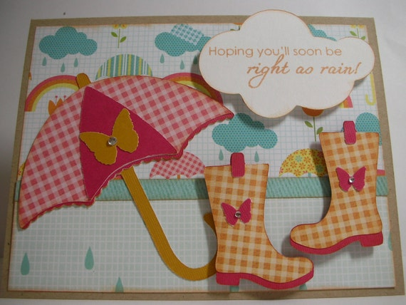 Under the Weather Handmade Card