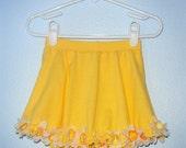 Baby Skort- Yellow Daffodil- OOAK