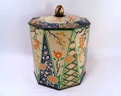 Vintage 20s Oriental Motif Tin Made in Holland