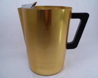 Sale 25% Off Use Coupon Code SAVE25 // Gold Anodized Aluminum Pitcher Regal Supreme Vintage 50s