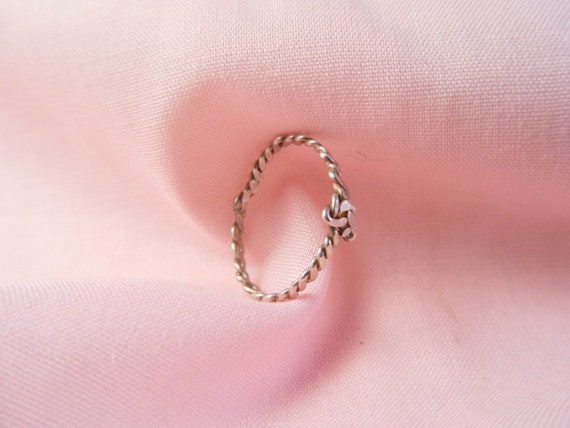 Sale 25% Off Use Coupon Code SAVE25 // Silver Stacking Ring Braided Knot Ring size 7.5 (S9) x