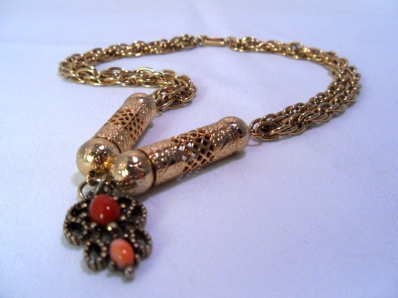 RESERVED for Tiff Do: Steampunk Necklace Vintage 70s