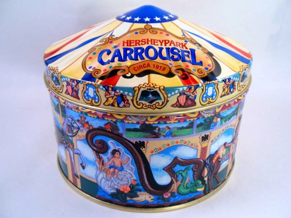 Embossed Carousel Building Tin