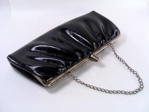 Sale 25% Off Use Coupon Code SAVE25 // Black Clutch Purse Vintage 50s