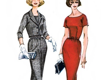 McCall's 5507 Misses' Sheath Dress and Jacket Sewing Pattern - Uncut - Size 16 - Bust 36