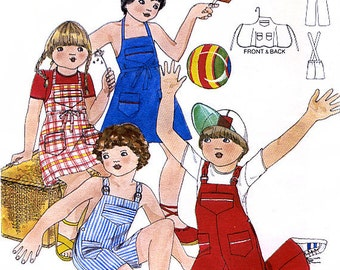 Butterick 5462 by Daniel Hechter Vintage 70s Children's Jumper and Overalls Sewing Pattern - Uncut - Size 6