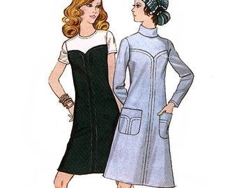 Butterick 5959 Vintage 70s Misses' Dress Sewing Pattern - Uncut - Size 10 - Bust 32.5