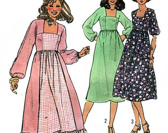 Simplicity 8569 Vintage 70s Misses' Dress Sewing Pattern - Uncut - Size 10 - Bust 32.5