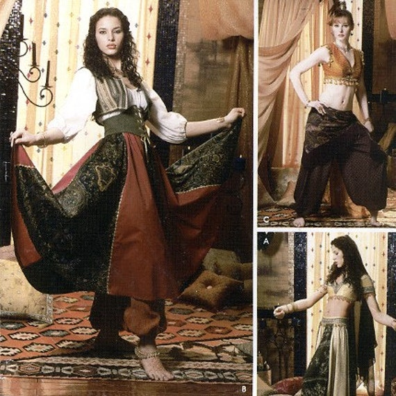 Simplicity 0500 Misses' Belly Dancer Costume Sewing Pattern - Uncut - Size 6, 8, 10, 12 - Bust 30.5, 31.5, 32.5, 34