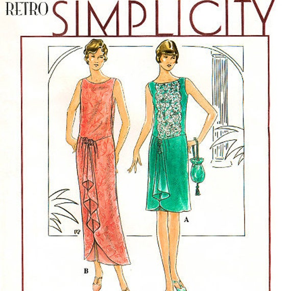 Simplicity 8776 Retro 1920s Reproduction Misses' Flapper