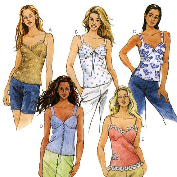 McCall's 4026 Misses' Lined Tops Sewing Pattern - Uncut - Size 4, 6, 8, 10 - Bust 29.5, 30.5, 31.5, 32.5