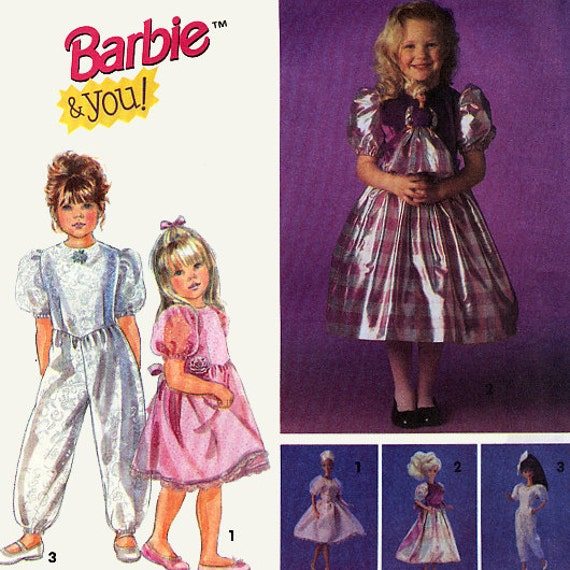 Simplicity 8633 Girls Dress, Jumpsuit and Barbie Doll Clothes Sewing Pattern - Uncut - Size 2-4