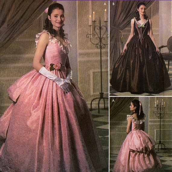 Mccall S 3514 Greek Roman Gown Toga Costume Sewing Pattern: Simplicity 4479 Phantom Of The Opera Misses' By Retrowithlana