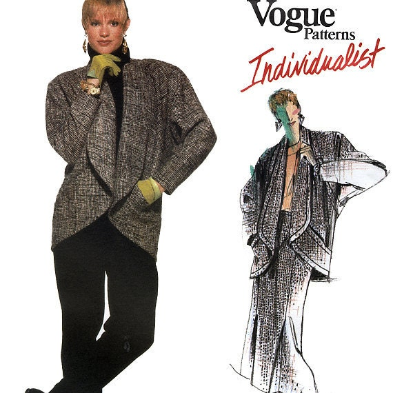 Vogue Individualist 1639 by Jenny Sharp Vintage 80s Misses' Jacket, Skirt and Pants Sewing Patterns - uncut - Size 14 - Bust 36