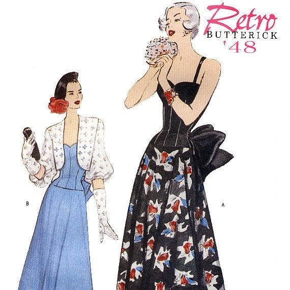 Butterick 6462 Retro '48 Misses' Dress and Bolero Sewing Pattern - Uncut - Size 12, 14, 16