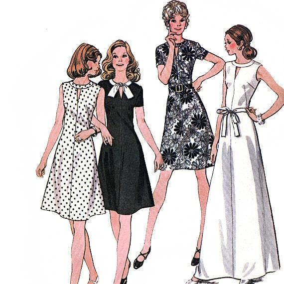 McCall's 3608 Vintage 70s Misses' Dress Sewing Pattern - Uncut - Size 16 - Bust 38