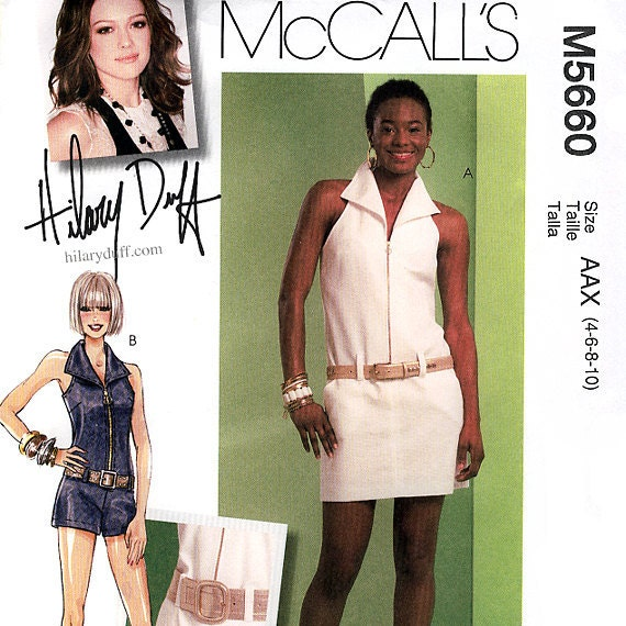 McCall's M5660 Misses' Dress and Jumpsuit Sewing Pattern - Uncut - Size 4, 6, 8, 10