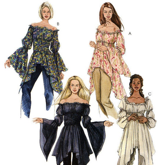 McCall's 4256 Misses'/Miss Petite Tops Sewing Pattern - Uncut - Size XS, S, M