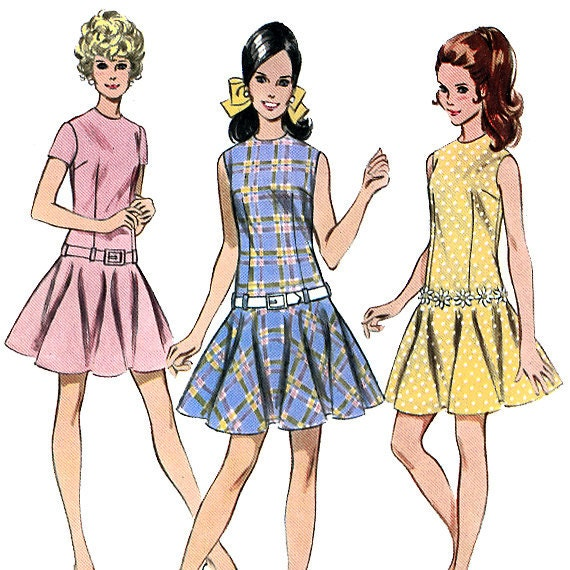 McCall's 9645 Vintage 60s Misses' and Junior Dress Sewing Pattern - Uncut - Size 12 - Bust 34