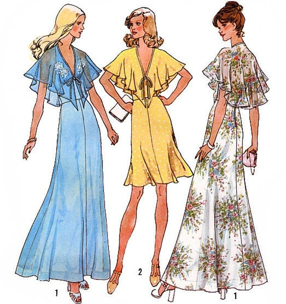 Simplicity 6898 Vintage 70s Misses' Halter-Dress in Two Lengths Sewing Pattern - Uncut - Size12 - Bust 34