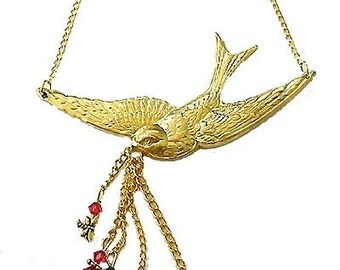 SALE * Swallow Bird Necklace