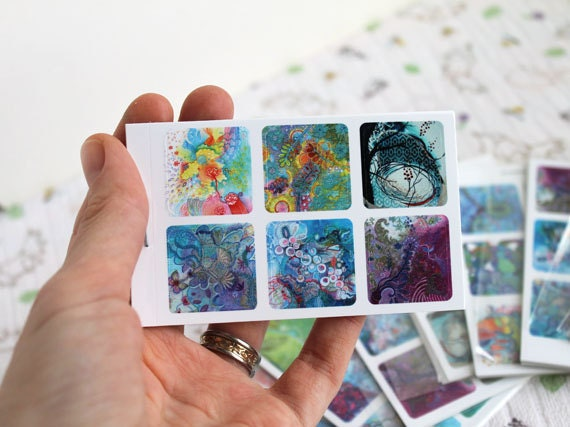 LAST SET - Gorgeous Mini Original Art Sticker Sets of 30