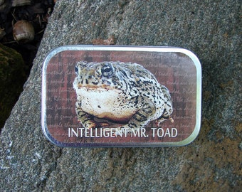 Intelligent Mr. Toad Mint Tin / Wallet / Container Great For Fishing Lures