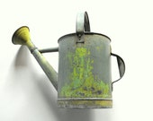 NOW ON SALE Vintage French Watering Can with a Beautiful Patina