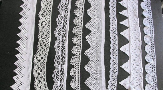 French Vintage Handmade Lace This listing is for 96 inches