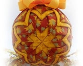 Quilted Fall Decoration Ornament Leaves Thanksgiving home decor
