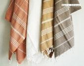 Turkish BATH Towel - Classic Peshtemal - Terracotta