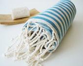 Turkish BATH Towel Peshtemal - Crystal Blue