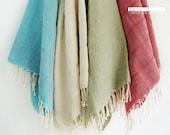 Premium Turkish BATH Towel Peshtemal - LINEN - Natural Color