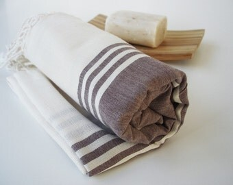Shipping with FedEx - Turkish BATH Towel Peshtemal - Bamboo and Cotton / 190gr