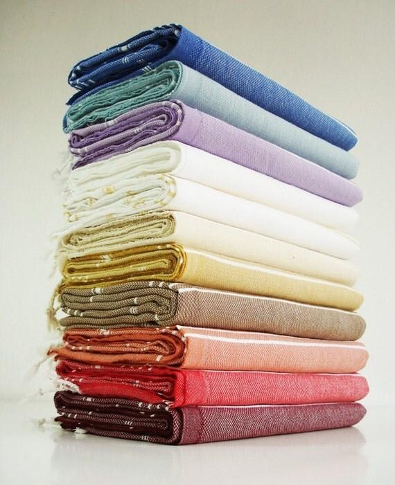 Turkish BATH Towel - Classic Peshtemal - Claret red