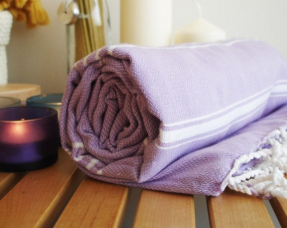 Turkish BATH Towel - Classic Peshtemal - Lilac