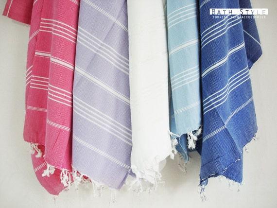 Shipping with FedEx - Turkish BATH Towel - Classic Peshtemal - Gray - Beach, Spa, Swim, Pool Towels and Pareo