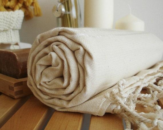 Turkish BATH Towel - Classic Peshtemal - Natural Color