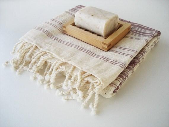 Turkish BATH Towel Peshtemal - Natural - Brown