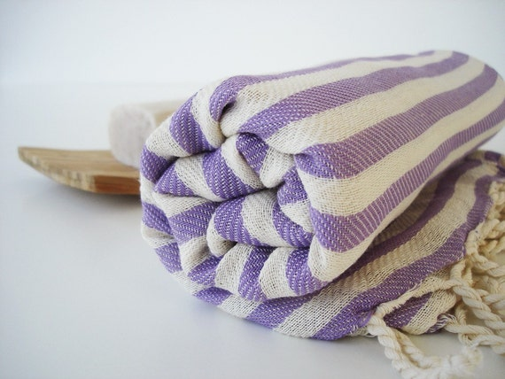 Turkish BATH Towel Peshtemal - Lilac