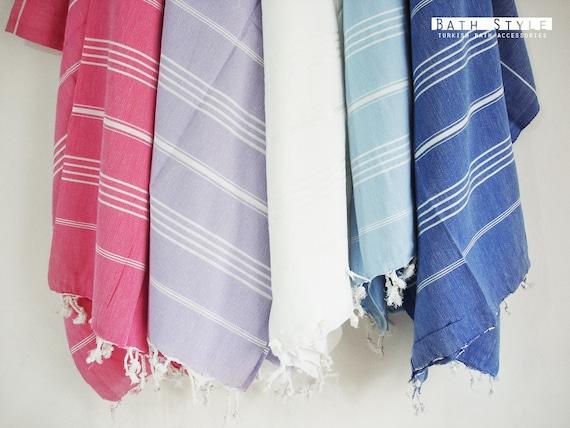 Turkish BATH Towel - Classic Peshtemal - Blue