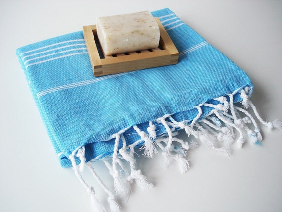 Turkish BATH Towel - Classic Peshtemal - Crystal Blue