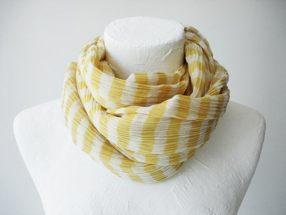 Hand-Woven COTTON Shawls - Yellow stripes
